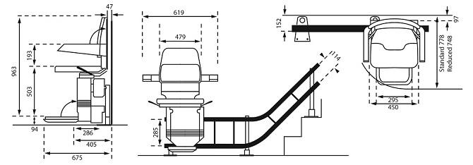 Detail Skizze Treppenlift