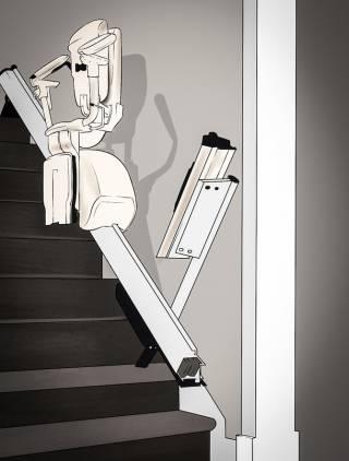 Treppenlifte mit Klappschiene